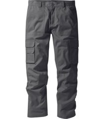 pantalone cargo regular fit straight (grigio) - bpc selection