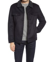 men's benson western fleece jacket, size xx-large - blue