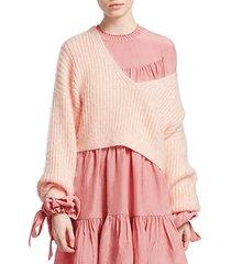 oversized mohair pullover