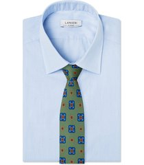 cravatta su misura, lanieri, contrasto verde, quattro stagioni | lanieri