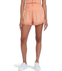 women's roxy endless beauty shorts, size medium - coral
