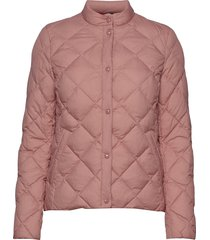 d1. light down quilted jacket doorgestikte jas roze gant