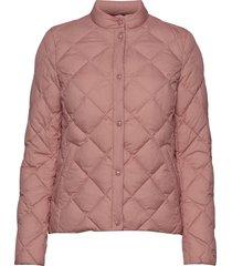 d1. light down quilted jacket doorgestikte jas roze gant