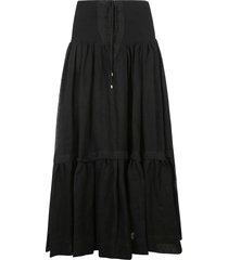 alberta ferretti lace-up flared skirt