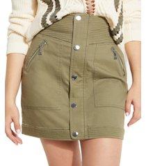 guess aja cargo mini skirt