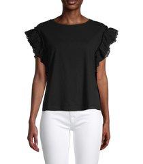allsaints women's senna adelaide top - black - size s