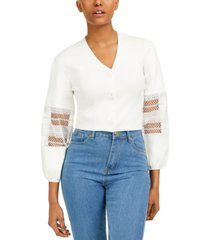 french connection kaya cotton mesh-inset blouse
