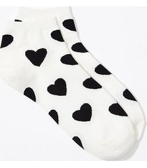 loft heart ankle socks