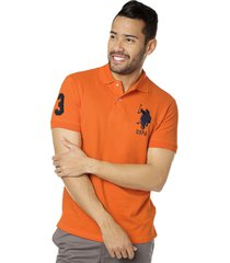 camiseta polo naranja us polo assn