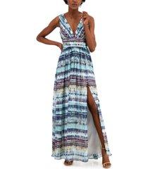 aidan by aidan mattox printed maxi dress