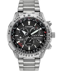 citizen eco-drive men's chronograph promaster air titanium bracelet watch 46mm, created for macy's