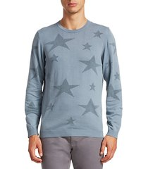 modern star crewneck cotton sweatshirt