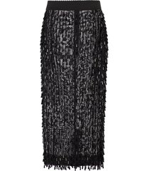 dolce & gabbana embroidered pencil skirt - black
