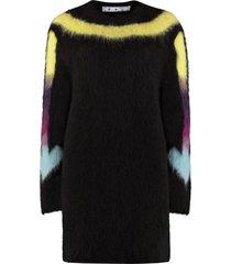 off-white arrow intarsia sweater-dress