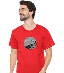 camiseta sandro clothing moment vermelho - vermelho - masculino - dafiti