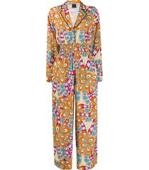 pinko floral print jumpsuit - orange