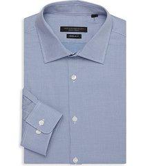 slim-fit spread collar dress shirt