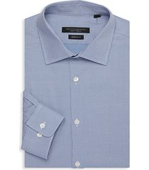slim-fit spread collar dress shirt