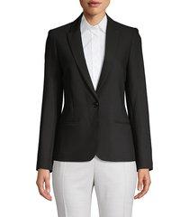 zadig & voltaire women's glitter skull jacket - noir - size s