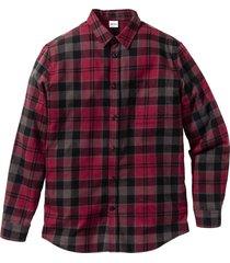 camicia in flanella regular fit (rosso) - john baner jeanswear