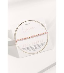 powerstone beaded bracelet - pale pink