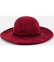 susanne knotted band floppy hat - burgundy