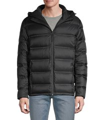 hooded packable down puffer jacket