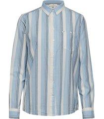 pocket shirt overhemd met lange mouwen blauw lee jeans