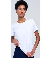 t-shirt salou em algodão básica branca pp