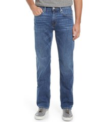 men's 7 for all mankind austyn squiggle relaxed straight leg jeans, size 38 - blue