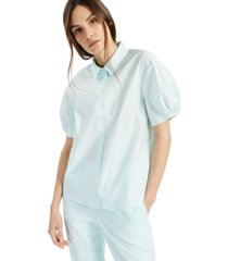 alfani balloon-sleeve blouse, created for macy's