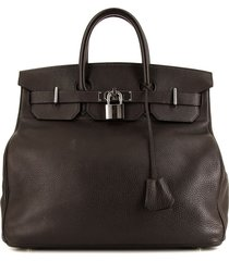 hermès 2003 pre-owned haut à courroies weekend bag - brown