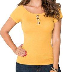 blusa belinda amarillo para mujer croydon