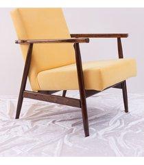 fotel lisek: pastelowy żółty! + gratis