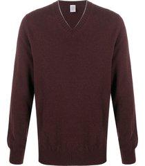 eleventy v-neck cashmere pullover - purple