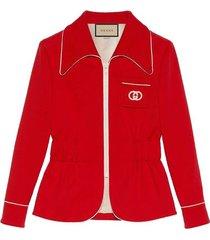 crop sport jersey jacket
