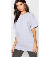 basic oversized boyfriend t-shirt, grijs gemêleerd