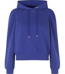basic hoodie carmelle  blauw
