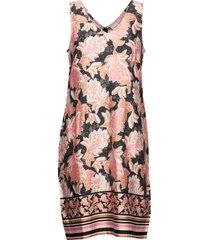 bahiacr dress korte jurk roze cream