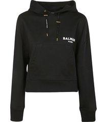balmain paris logo hoodie