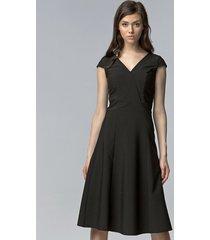 sukienka bez rękawów midi czarny