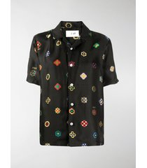 kirin geometric print short-sleeved shirt
