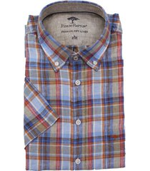 fynch-hatton fynch-hatton short sleeve overhemd met check print