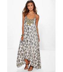 petite slangenprint jurk met zakdoekzoom, meerdere