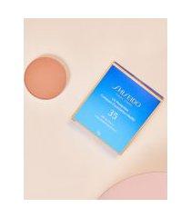amaro feminino shiseido protetor solar facial compacto fps35 refil uv protective compact foundation - 12g, medium ochre