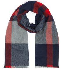 explode check merino wool scarf