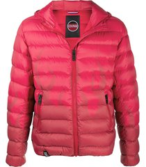 colmar flame print padded down jacket - red