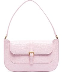 by far miranda crocodile-embossed shoulder bag - pink