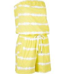 tuta in cotone corta a fascia (giallo) - bpc bonprix collection