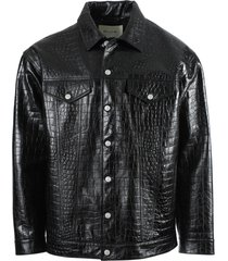 black croc embossed jacket